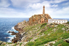 Lighthouse Cabo Vilan. Stock Photos