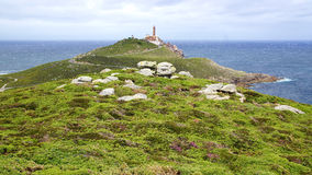Lighthouse Cabo Vilan. Royalty Free Stock Images