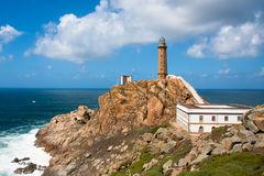 Lighthouse Cabo Vilan, Spain Royalty Free Stock Photo