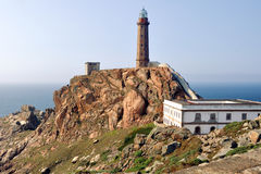 Lighthouse at Cabo Vilan, Spain Royalty Free Stock Photos