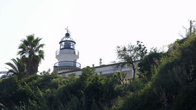 Lighthouse in Calella Royalty Free Stock Photos