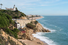 Lighthouse Calella Royalty Free Stock Image