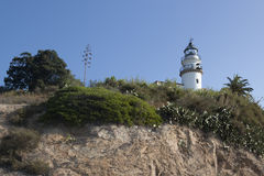 Lighthouse in Calella Royalty Free Stock Photo