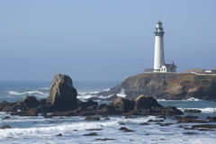 Lighthouse on the California Coast. Pigeon Point Lighthouse on the California Coast Stock Photos
