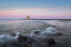 The Lighthouse of Marken. This lighthouse is called, Het Paard van Marken Royalty Free Stock Photos