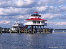 Lighthouse. In Cambridge Maryland, on the Choptank River. It is historic, and visitors are allowed inside. Located in the Cambrige Marina Royalty Free Stock Photos