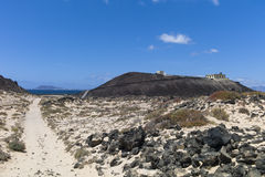 Lighthouse Canary Islands Fuerteventura Los Lobos. Stock Images