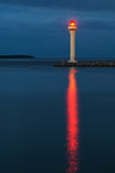 Lighthouse in Cannes at night Stock Images