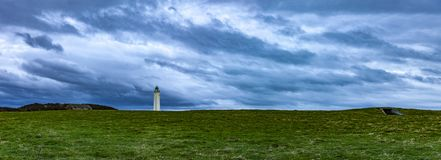 Lighthouse in Normandy stock images