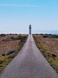 Lighthouse on Cap de Barbaria, Formentera Royalty Free Stock Images