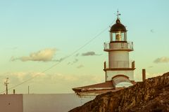Lighthouse of the Cap de Creus Natural Park, the westernmost poi Stock Photography