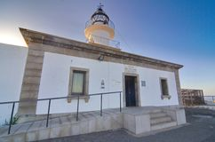 Lighthouse at Cap de Creus peninsula, Catalonia, Spain Royalty Free Stock Photography