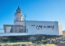 Lighthouse at Cap de Creus peninsula, Catalonia, Spain Stock Photo