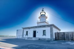 Lighthouse at Cap de Creus peninsula, Catalonia, Spain Royalty Free Stock Photos
