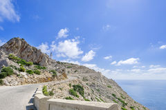 Lighthouse on Cap de Formentor Royalty Free Stock Photos