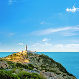 Lighthouse at Cap de Formentor, Majorca. Lighthouse at the Cap de Formentor, Majorca Royalty Free Stock Images