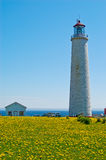 Lighthouse at Cap des Rosiers Royalty Free Stock Images