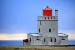 Lighthouse at Cap Dyrholaey, Iceland stock photos