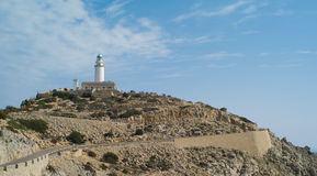 Lighthouse at Cap Formentor. On Mallorca island Royalty Free Stock Photo