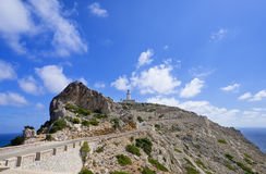 Lighthouse Cap Formentor Mallorca. Spain Royalty Free Stock Images