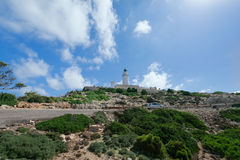 Lighthouse Cap Formentor Mallorca Spain horizontal. Lighthouse Cap Formentor Mallorca, Spain Royalty Free Stock Images