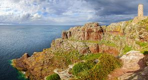 Lighthouse on Cap Frehel. Brittany, France Royalty Free Stock Photos
