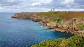 Lighthouse on Cap Frehel. Brittany, France Royalty Free Stock Image