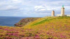 Lighthouse on Cap Frehel. Brittany, France Stock Image