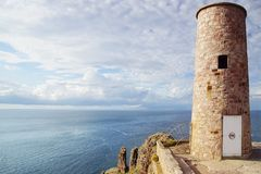 Lighthouse on Cap Frehel. Brittany, France Stock Photography