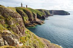 Lighthouse on Cap Frehel. Brittany, France Stock Photo
