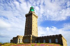 Lighthouse on Cap Frehel. France Stock Image