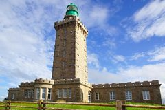 Lighthouse on Cap Frehel. France Royalty Free Stock Photography