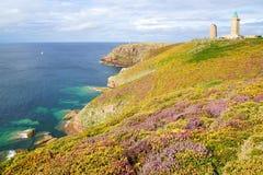 Lighthouse on Cap Frehel. France Stock Photos