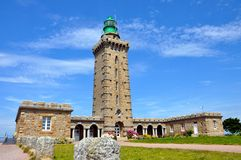 Lighthouse Cap Frehel, France Stock Photography