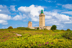 Lighthouse at Cap Frehel peninsula, Bretagne, France Stock Images
