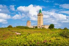 Lighthouse at Cap Frehel peninsula, Bretagne, France Stock Images