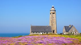 Lighthouse on Cap Levi, Fermanville. Stock Images