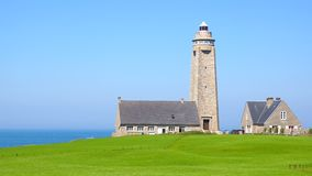 Lighthouse on Cap Levi, Fermanville. Royalty Free Stock Image