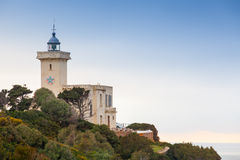 Lighthouse in Cap Malabata, Tangier, Morocco Stock Image