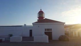 Lighthouse Cap Saint Vincent Royalty Free Stock Images