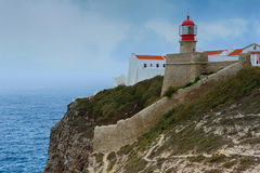 Lighthouse, Cap San Vicente, Sagres, Portugal Royalty Free Stock Photo
