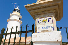 Lighthouse of Capdepera closeup Royalty Free Stock Images