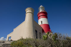 Lighthouse at Cape Agulhas Stock Image