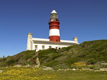 Lighthouse of Cape Agulhas (South Africa) Royalty Free Stock Photos