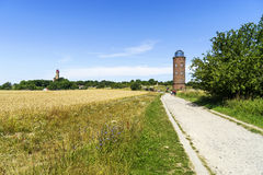 Lighthouse at cape Arkona , island of Ruegen in Germany Stock Photography