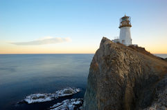 Lighthouse on cape Brinera-6 Royalty Free Stock Photos