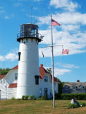 Lighthouse. Cape Cod. Lighthouse at Cape Cod under the blue sky Royalty Free Stock Photography