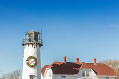 Lighthouse in Cape Cod, Massachusetts stock photography