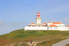 Lighthouse on on the cape of Destiny Stock Images