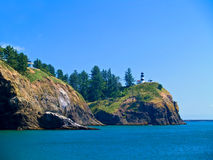Lighthouse - Cape Disappointment WA USA Royalty Free Stock Images